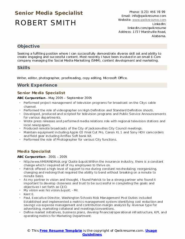 Social Media Specialist Cover Letter from assets.qwikresume.com