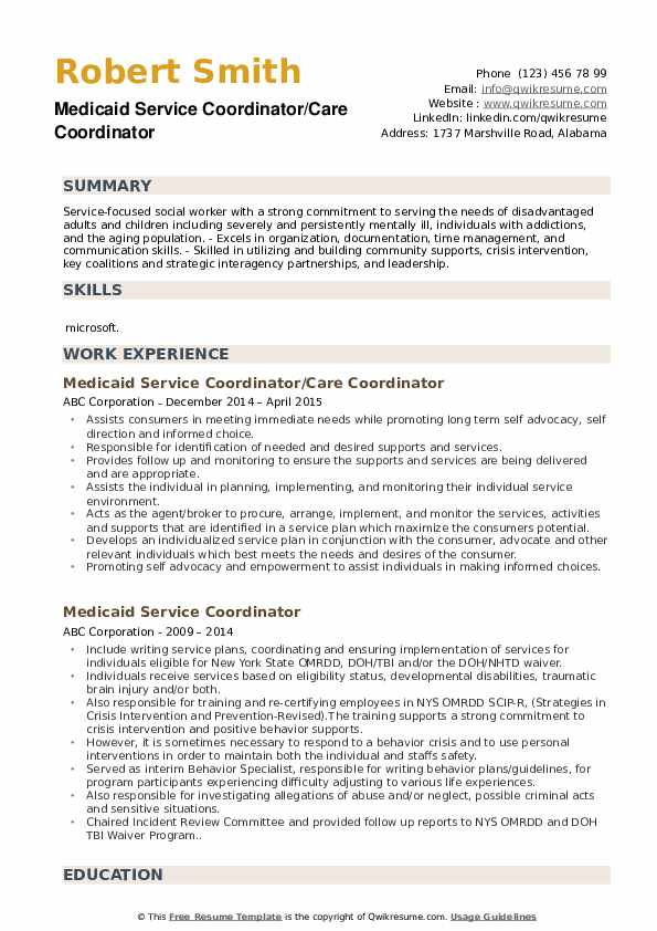 Director Of Social Work Resume example