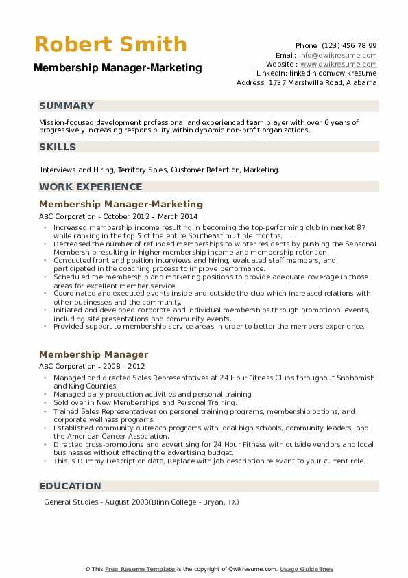 Hardlines Manager Resume example