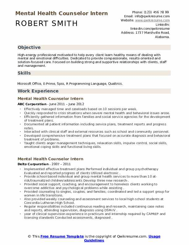 Lmhc resume objective in resume or not