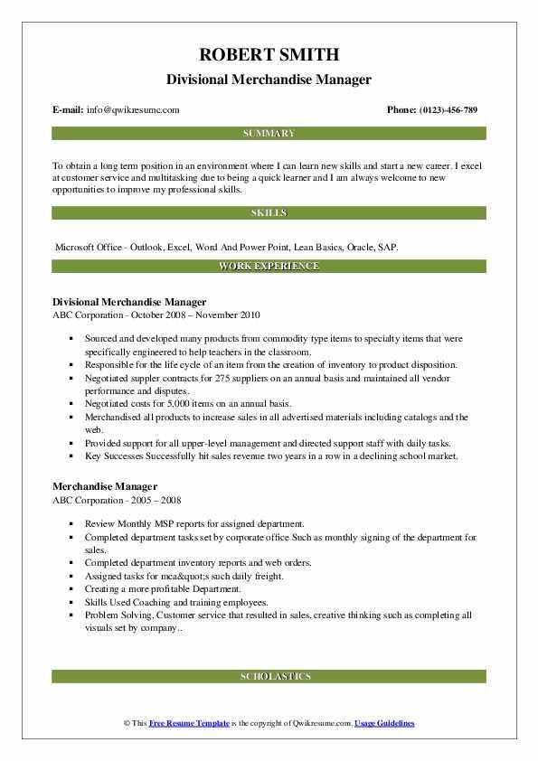 Junior Pricing Specialist Resume Template