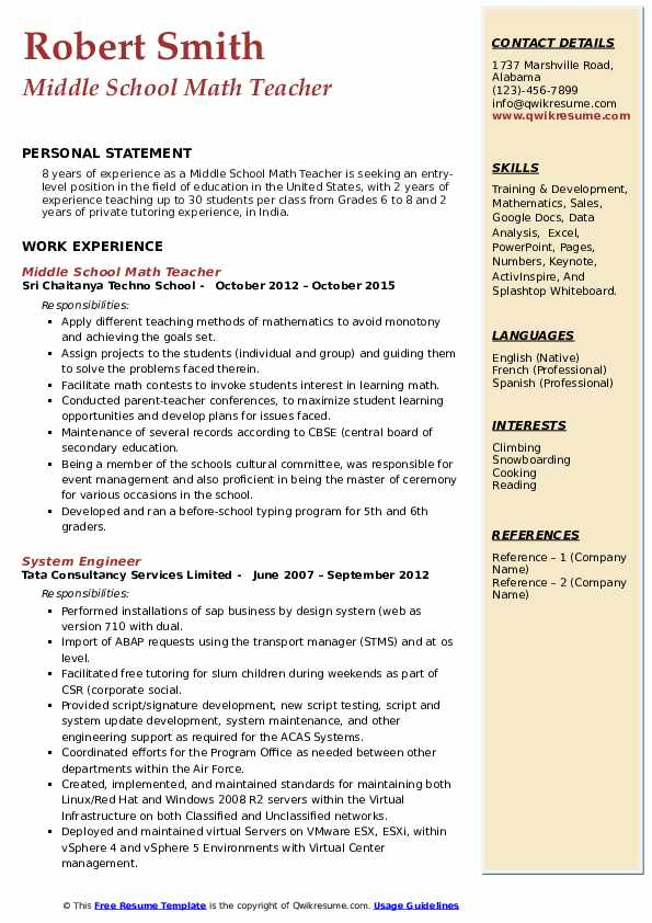 middle--math-teacher-1547043323-pdf Teacher Resume Format In India Pdf on