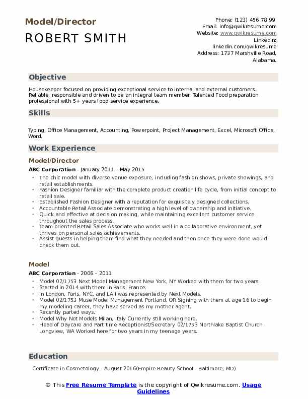 Model Resume Samples Qwikresume