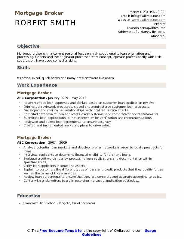 account executive mortgage resume