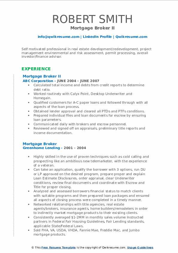 Mortagage Banker Resume Samples