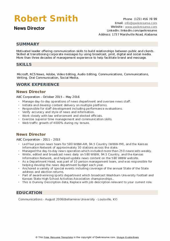 Director of news resume write my math letter