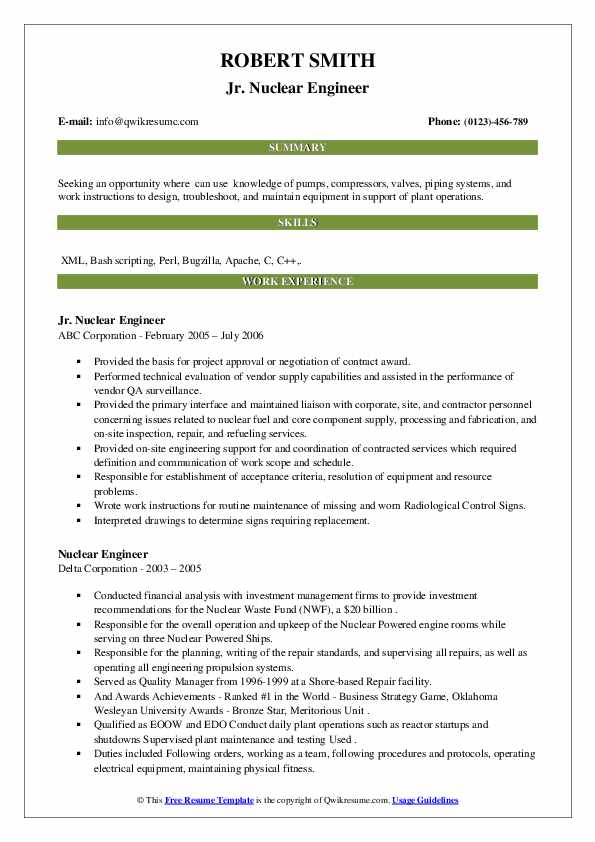 Nuclear engineer resume professional book review editing site online