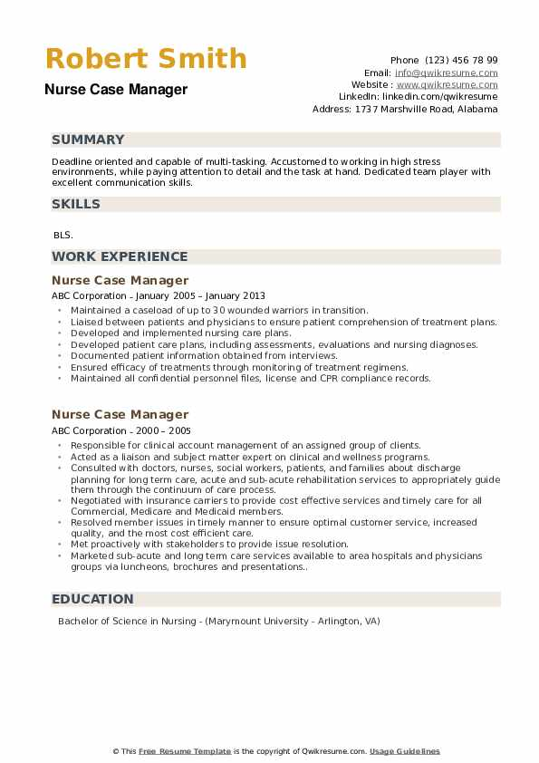 Clinical Staff Nurse Resume example