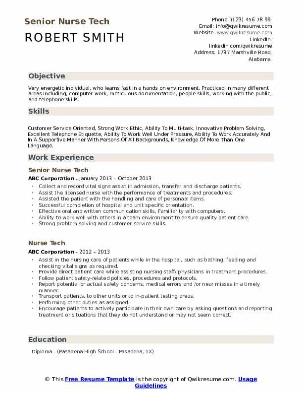 Nurse tech resume research papers document image analysis