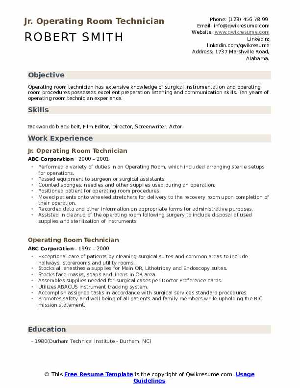 Cardiology Technician Resume example