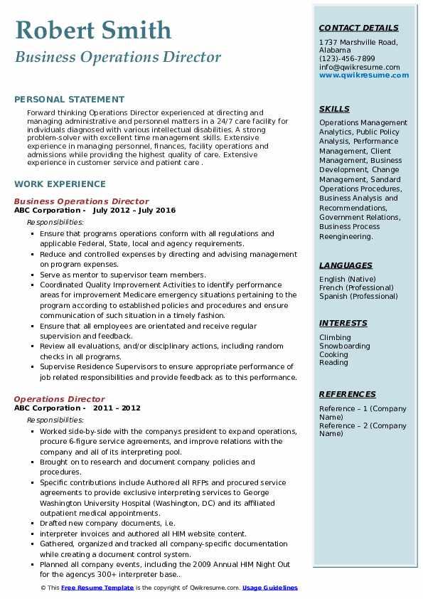 Residential Coordinator III Resume Model