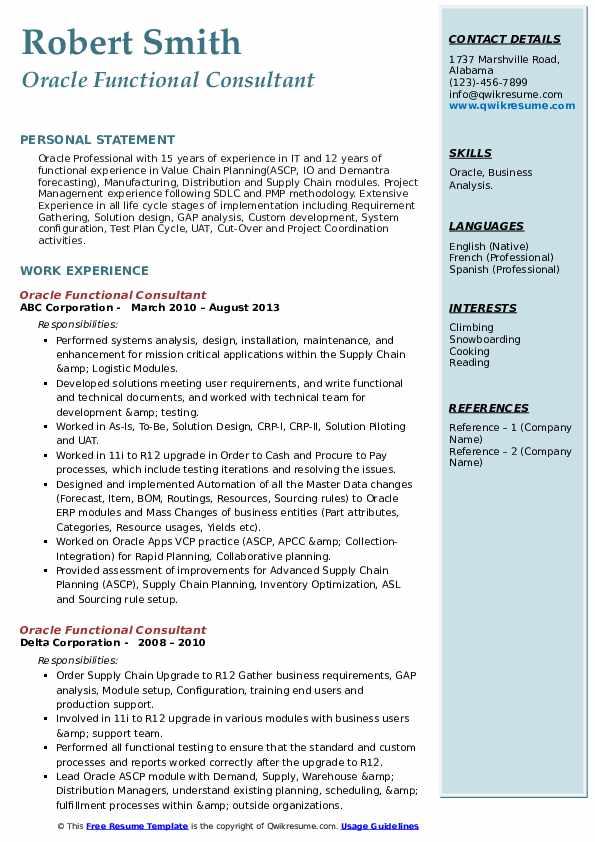Oracle erp functional and resume professional dissertation methodology ghostwriter sites us