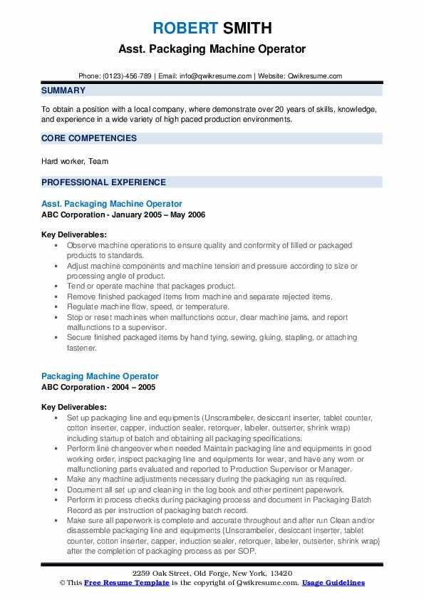 lead press operator resume samples  qwikresume