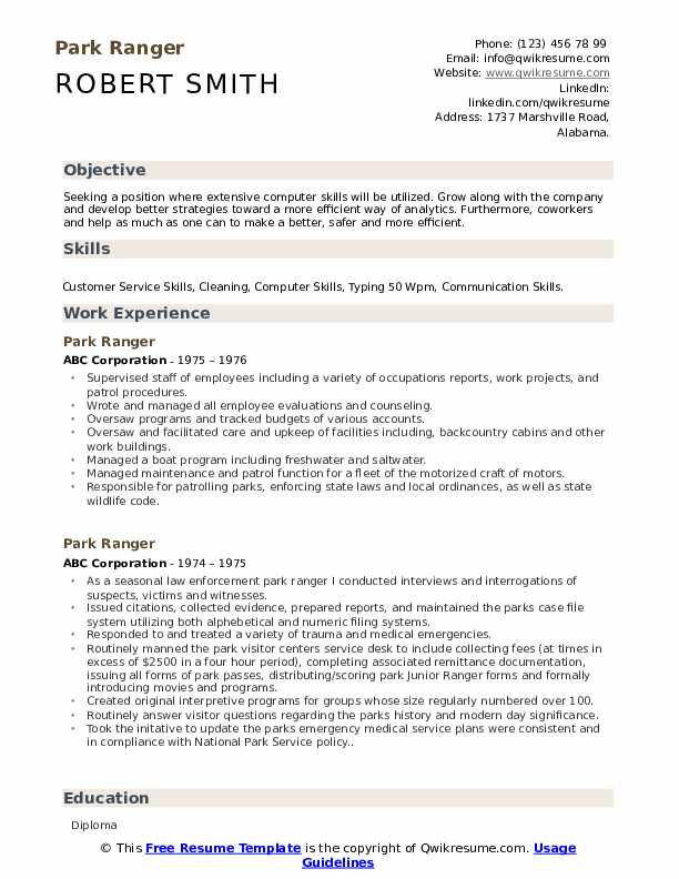 Forest ranger resume best scholarship essay ghostwriting services for school