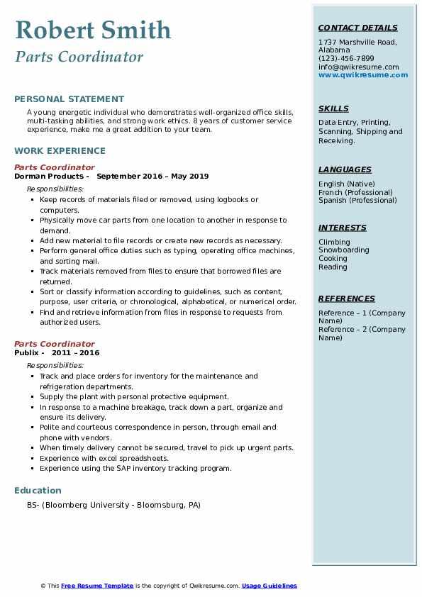 Marketing & Social Media Intern Resume Model