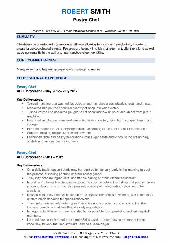 Chef Cv Sample from assets.qwikresume.com