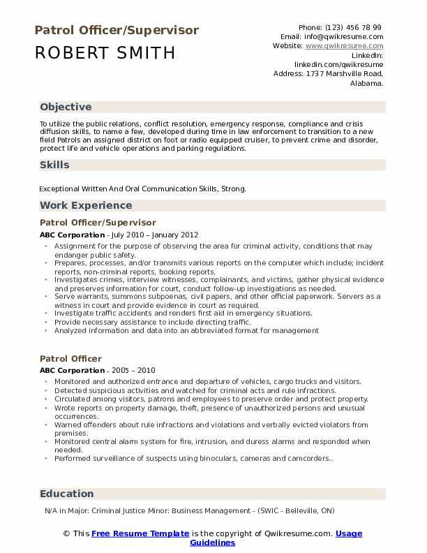 Loss Prevention Specialist Resume Template