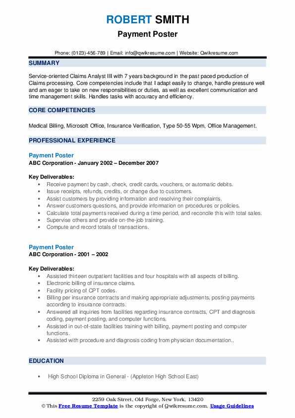 Financial Associate Resume example