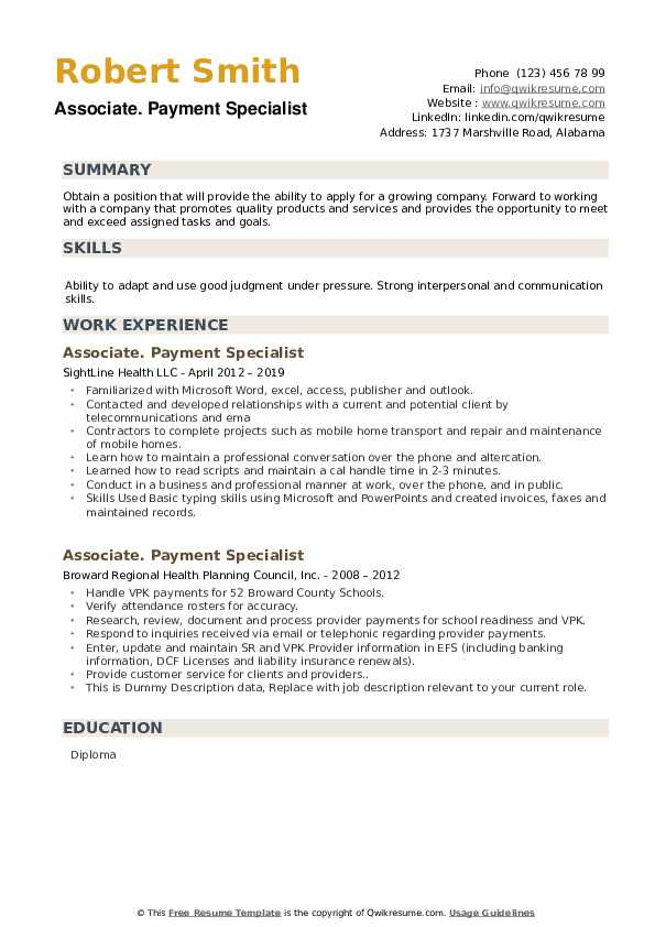Distributor sales representative resume