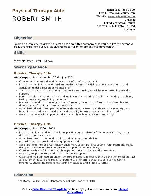 Cover Letter Examples Physical Therapy from assets.qwikresume.com