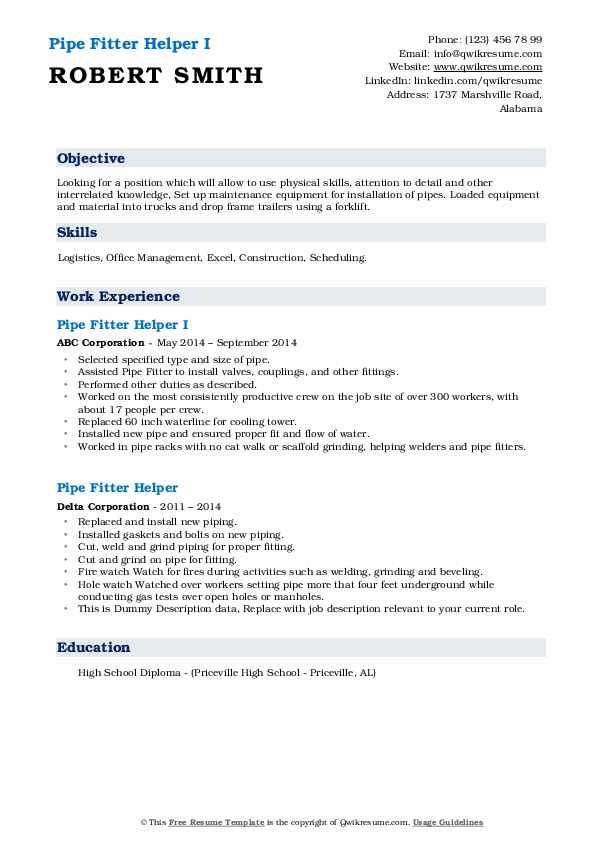 iti fitter resume format  iti fitter resume format pdf