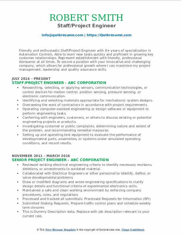Doc engineer job pcb resume