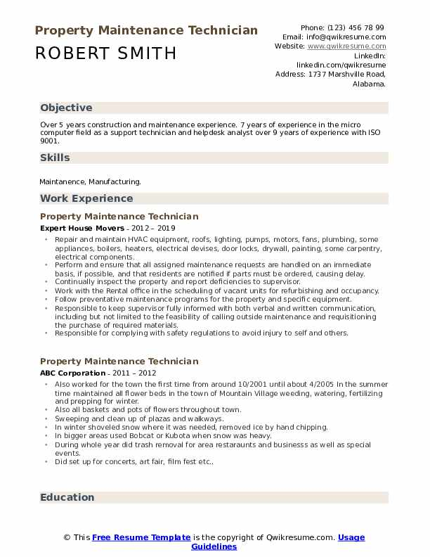 Construction maintenance resume how to write an in office memo