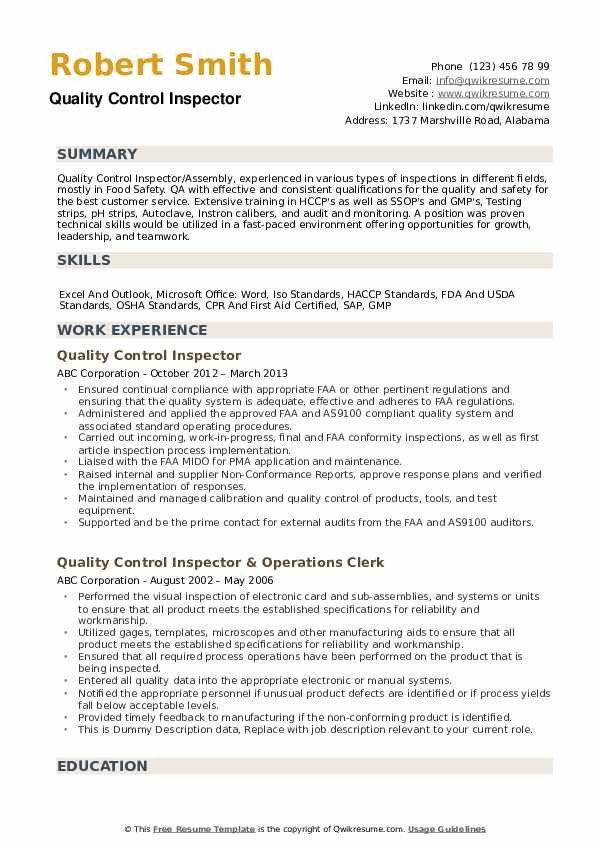 quality-control-inspector-1561117079-pdf Qc Resume Format Pdf on templates free, for government jobs, for good,