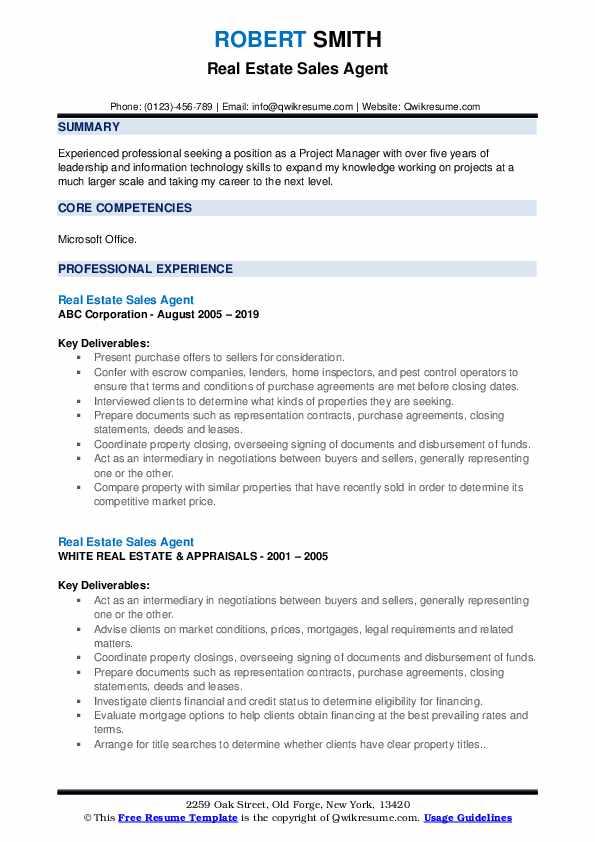 Life Insurance Producer Resume Format