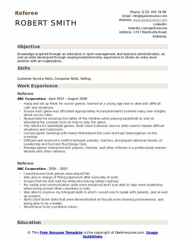 Referee resume format old movie reviews