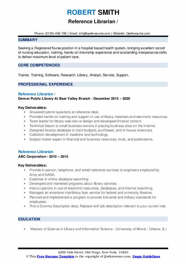 Resume for reference librarian professional book review proofreading services for college