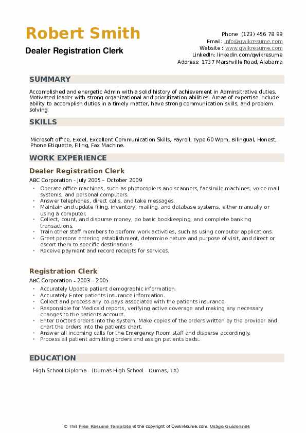 Patient Financial Counselor - Temp Resume Sample