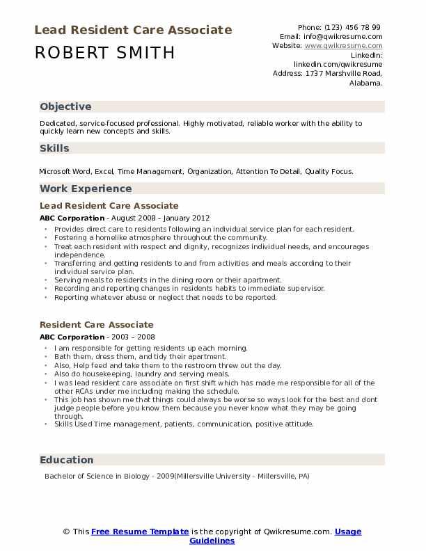 CO-Medical Scribe Resume Format
