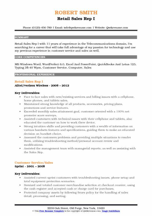 Resume Sample For Counter Sales