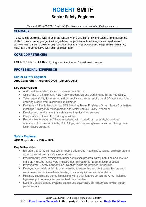 Environmental health and safety engineer resume free sample resume accounting assistant