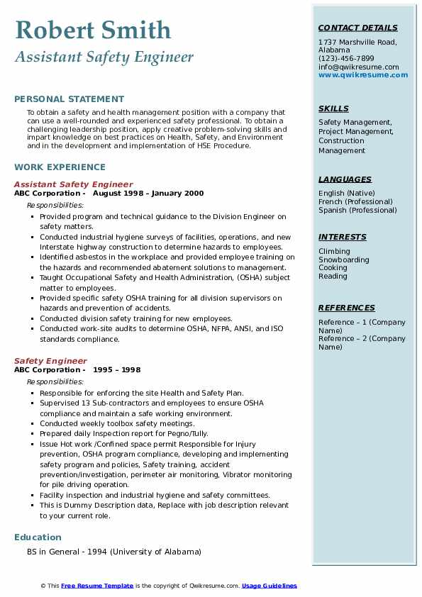 Environmental health and safety engineer resume esl school essay ghostwriters service for masters