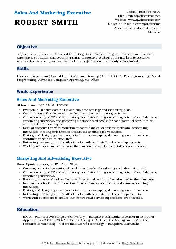 sales-and-marketing-executive-1531110609-pdf Office Job Resume Format on for teacher, cover letter, computer science, for designers, sample fresher, civil engineer, 12th pass, high school, sample chronological, for fresh graduates, sample canadian,