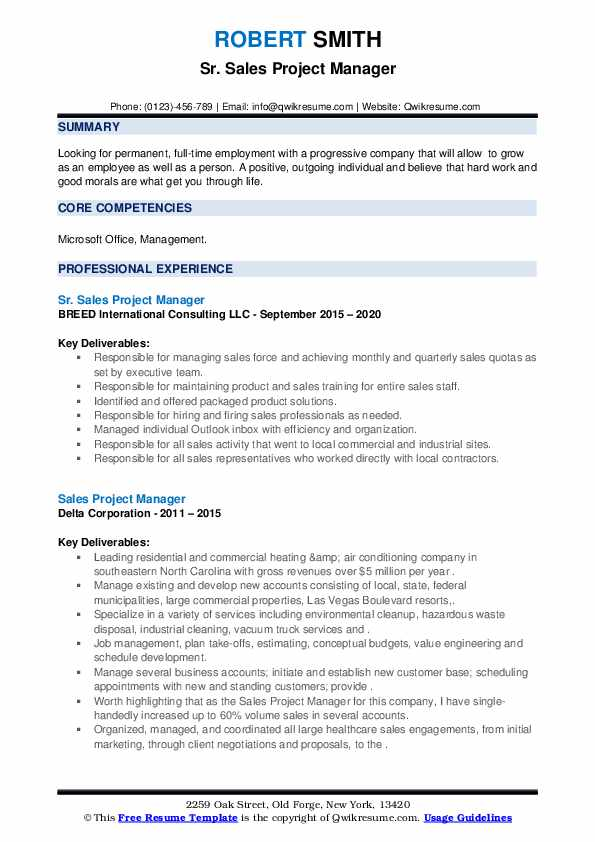 Project manager sales resume cover letter for mba freshers