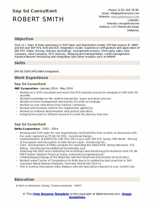 Sample resume for sap sd support professional business plan writers website uk