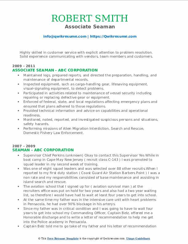 sample resume for marine transportation apprenticeship