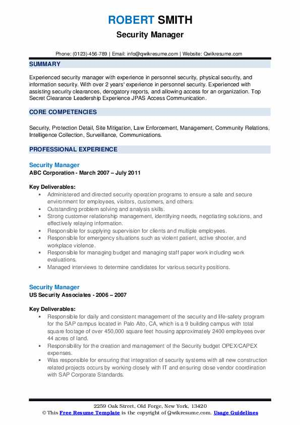 Security site manager resume essay finding form