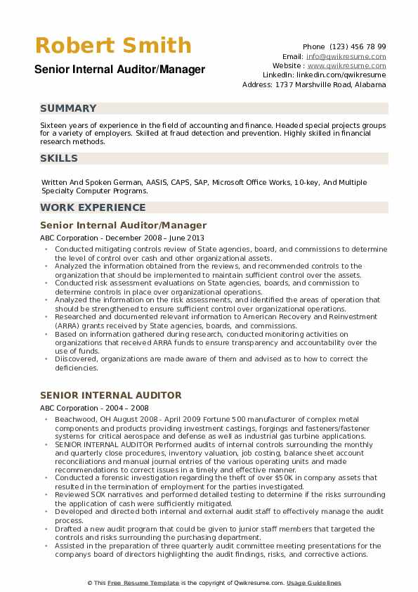 Duty Manager Resume example