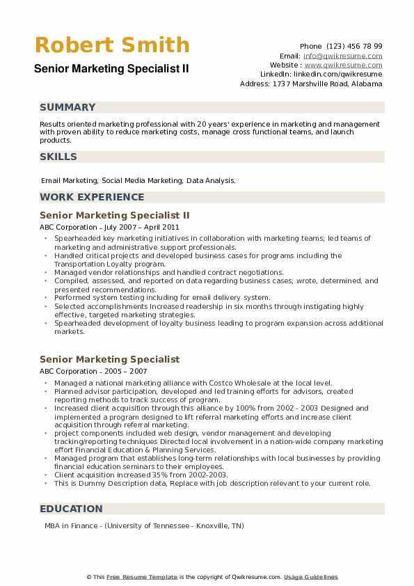 Financial Operations Analyst Resume example