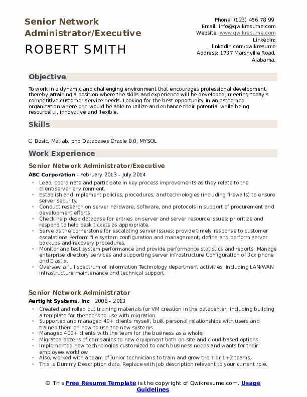 Network Administrator Cover Letter from assets.qwikresume.com