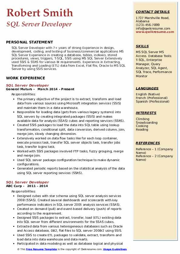 Server Developer Resume Samples | QwikResume