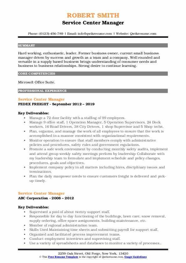 Jr. Operation Supervisor Resume Format
