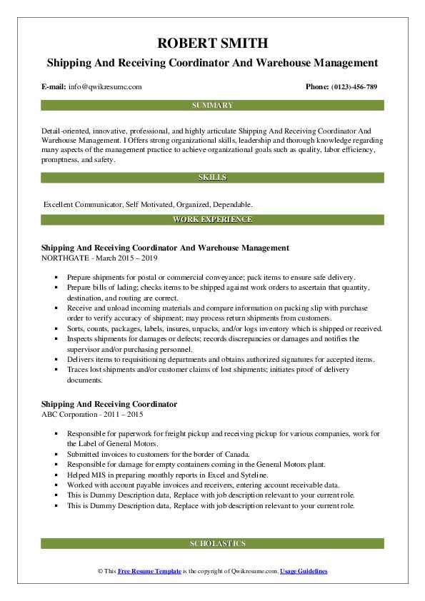 Sanitation Technician-Operator Resume Sample