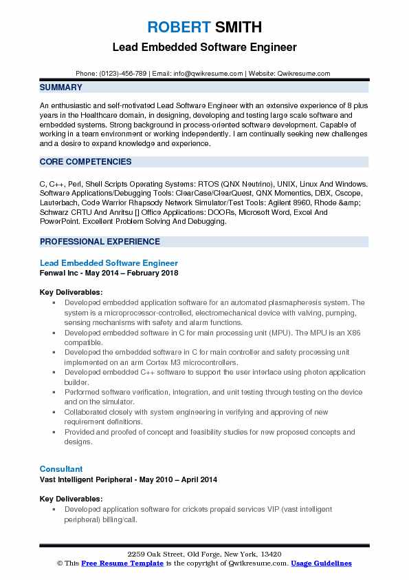 software engineer resume samples qwikresume