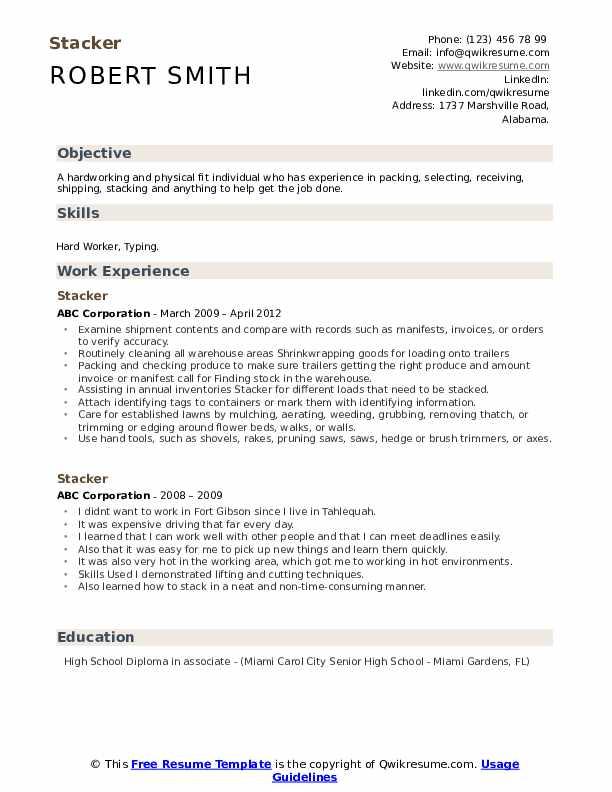 Stacker Resume Template
