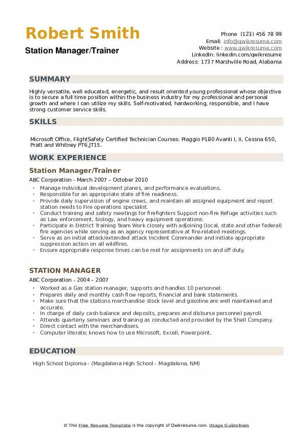 Contact Supervisor Resume example